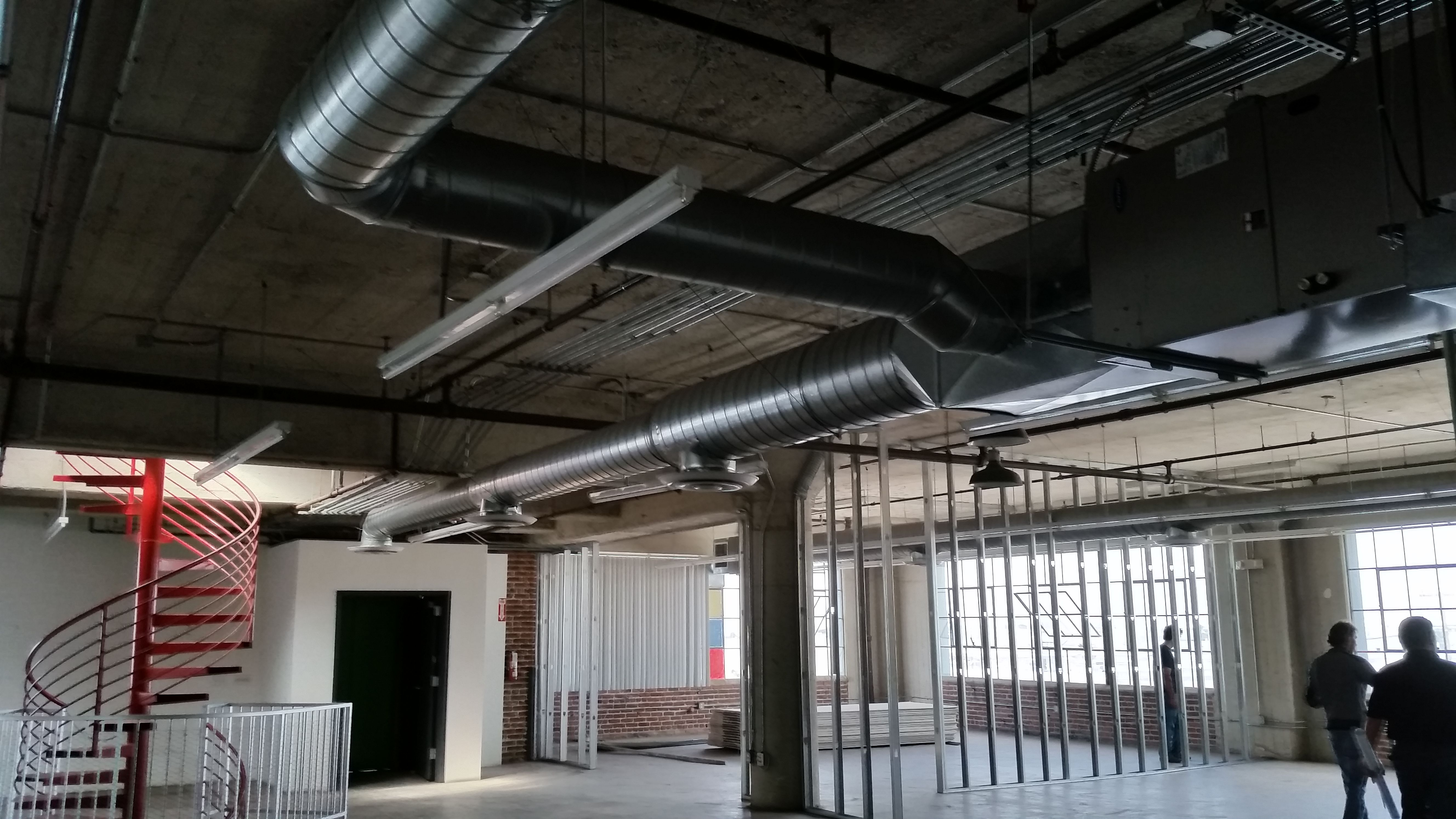 duct work in a commercial space